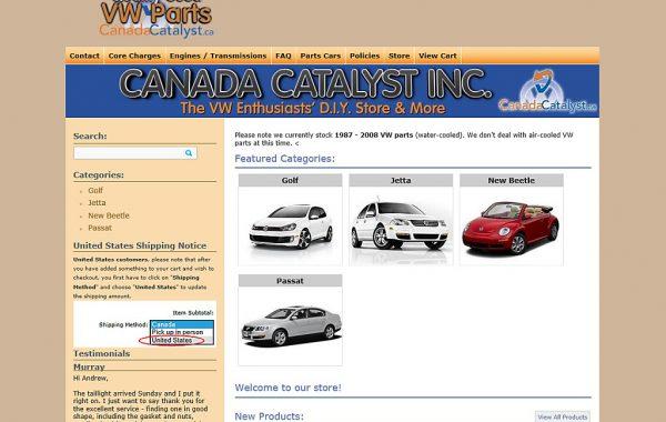 Client Website: Canada Catalyst