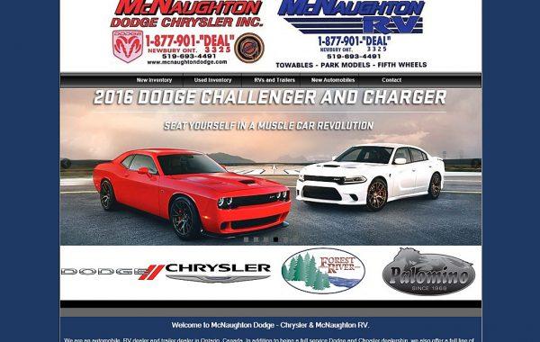 Client Website: McNaughton Dodge RV