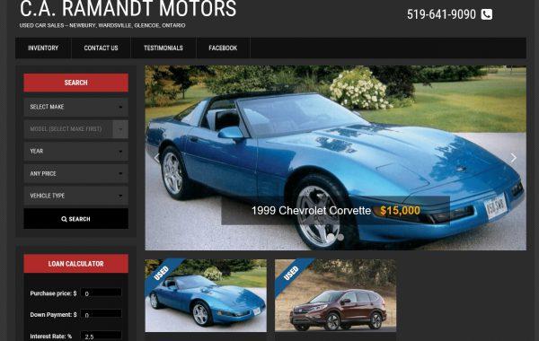 Client Website: CA Ramandt Motors