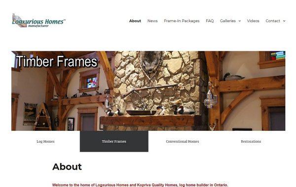 Client Website: Logxurious Homes